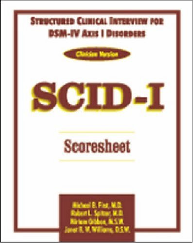 9780880489331: Structured Clinical Interview for DSM-IV Axis I Disorders (Clinical Version) SCID-I Scoresheet (Five Pack)