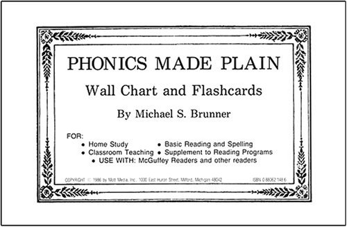 9780880621489: Phonics Made Plain Wall Chart and Flashcards