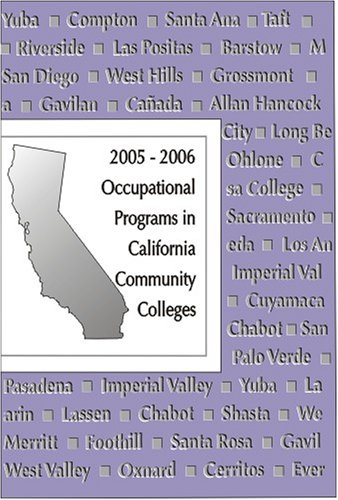 Occupational Programs in California Community Colleges: LAMA Books