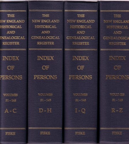THE NEW ENGLAND HISTORICAL AND GENEALOGICAL REGISTER INDEX OF PERSONS, VOLUMES 51-148 (4 VOL. SET) ...