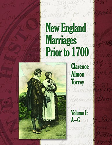 9780880822466: NEW ENGLAND MARRIAGES PRIOR TO 1700: 3-Volume Set, Paperback.
