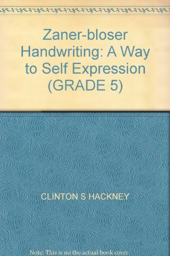 9780880851749: Zaner-bloser Handwriting: A Way to Self Expression (GRADE 5)
