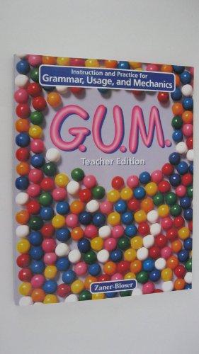 9780880858144: G.U.M. Teacher Edition - Instruction and Practice for Grammar, Usage, and Mechanics - Level D