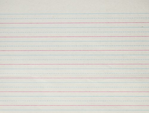 9780880858977: Handwriting Paper Grade 1: 5/8 Inch Ruling-Red Baseline-Broken Midline : 500 Sheets