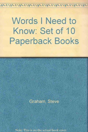Words I Need to Know: Set of 10 Paperback Books (0880859121) by Graham, Steve