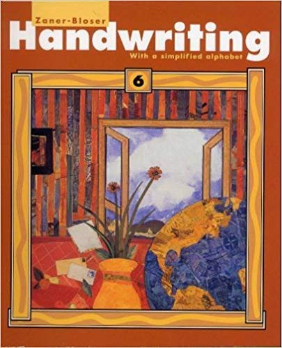9780880859516: Handwriting with a simplified alphabet: Level 6