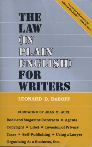 9780880890168: The law (in plain English) for writers