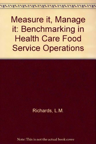 9780880911573: Measure It, Manage It: Laying the Foundation for Benchmarking Health Care Foodservice Operations