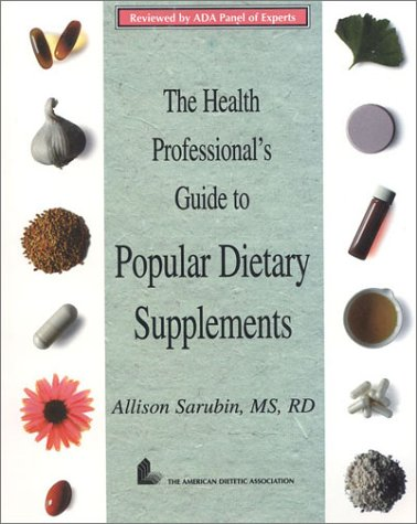 9780880911801: The Health Professional's Guide to Popular Dietary Supplements