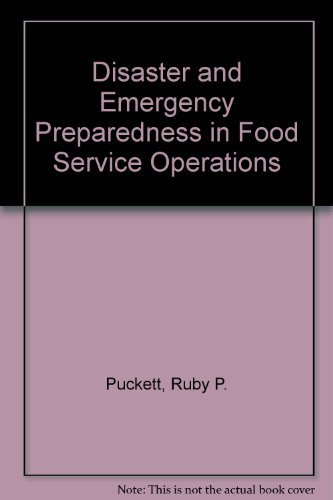 9780880913058: Disaster and Emergency Preparedness in Food Service Operations