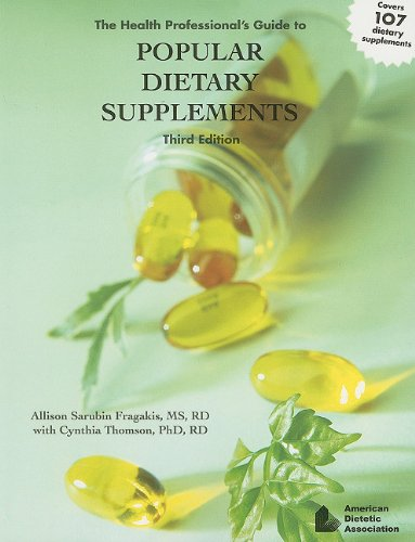 9780880913638: The Health Professional's Guide to Popular Dietary Supplements