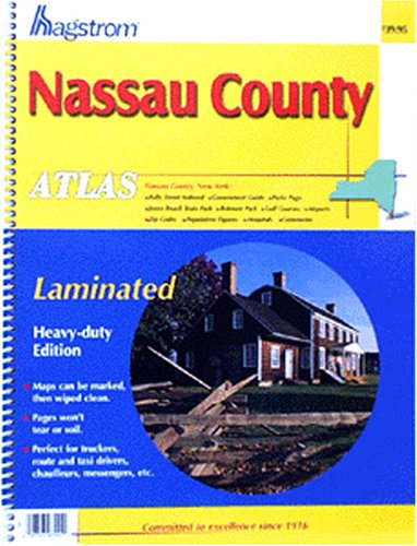 9780880970310: Nassau County Atlas: Laminated (Hagstrom Nassau County Atlas: New York (Spiral/Laminated))