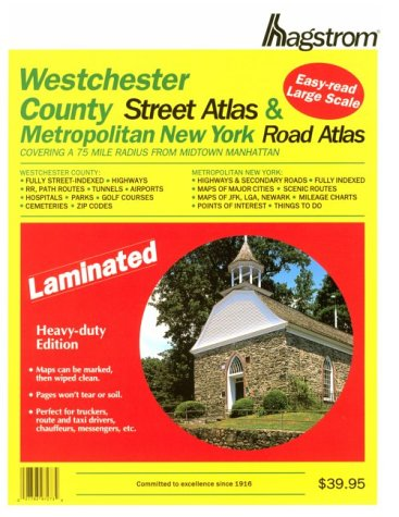 9780880970327: Hagstrom Westchester County & Metro New York: Covering a 75 Mile Radius from Midtown Manhattan
