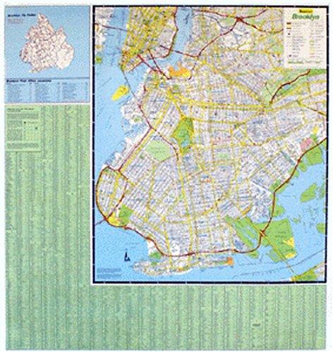 9780880974011: Brooklyn County, Ny Flat Laminated Map