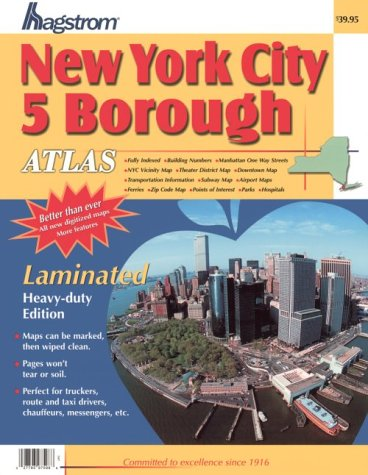 Hagstrom New York City 5 Borough Atlas: Laminated (Hagstrom New York City Five Borough Atlas (...