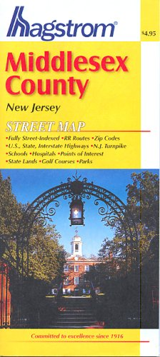 9780880977876: Middlesex County, Nj Map