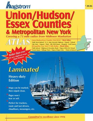 9780880977982: Union/Hudson/Essex & Metropolitan New York Atlas- Laminated