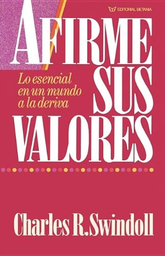 9780881130874: AFIRME SUS VALORES (STENGTHENING YOUR GRIP)