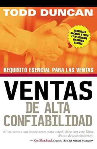 9780881138481: Ventas de Alta Confiabilidad: Requisito Esencial Para Las Ventas