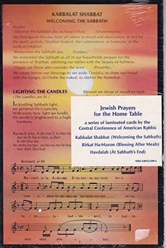 9780881230000: Jewish Prayers for the Home Table (Set of 3 Cards)