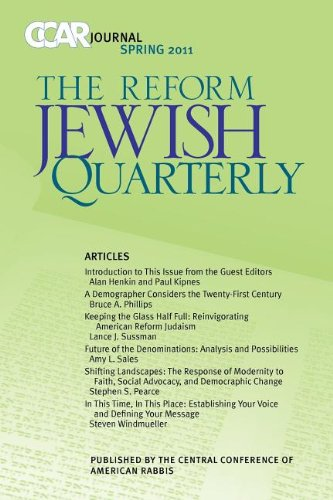 9780881231724: CCAR Journal, The Reform Jewish Quarterly Spring 2011: New Visions of Jewish Communit