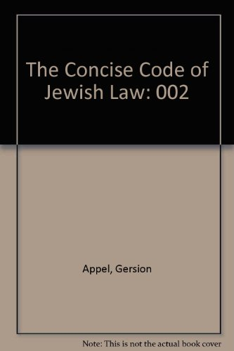 9780881253245: The Concise Code of Jewish Law