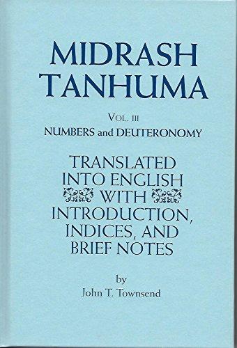 9780881257809: Midrash Tanhuma: Vol. III, Numbers and Deuteronomy