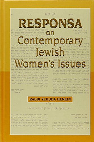 9780881257823: Responsa on Contemporary Jewish Women's Issues
