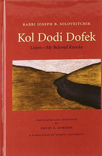 9780881258974: Kol Dodi Dofek: Listen-my Beloved Knocks