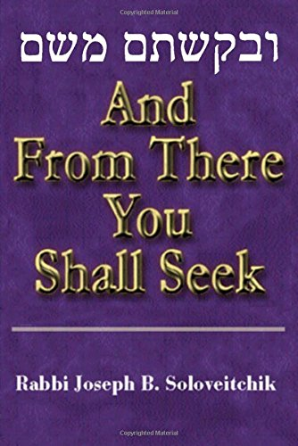 9780881259346: And from There You Shall Seek (Meotzar Horav)