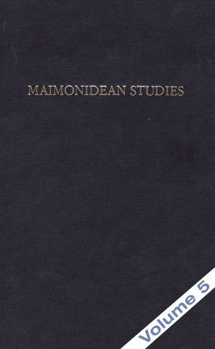 9780881259414: Maimonidean Studies, Vol. 5