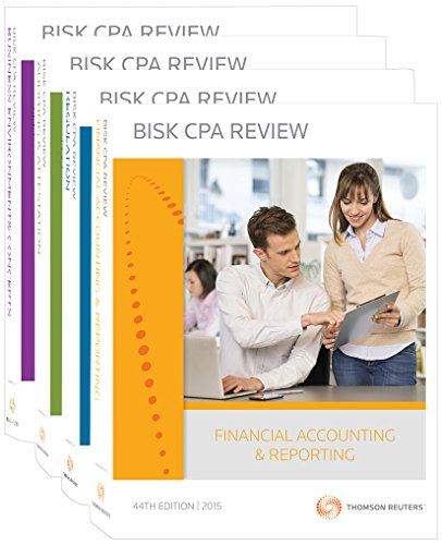 9780881281682: Bisk CPA Review: 4-Volume Set - 44th Edition 2015 (Comprehensive CPA Exam Review 4-Volume Set)