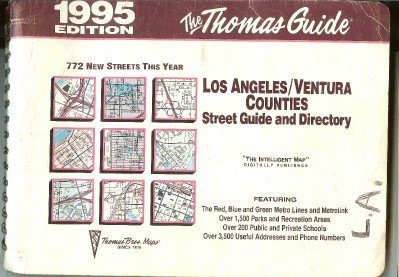 Los Angeles, Orange Counties Street Guide and Directory, 1995: Maps, Thomas Brothers