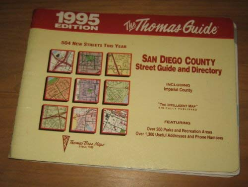 San Diego County Street Guide Including Imperial County, 1995: Including Imperial County