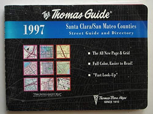 9780881307986: Santa Clara San Mateo 1997-Map