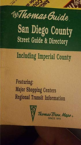 9780881308402: San Diego County street guide and directory: Including Imperial County (San Diego Street Guide & Directory, Zip Code Ed.)