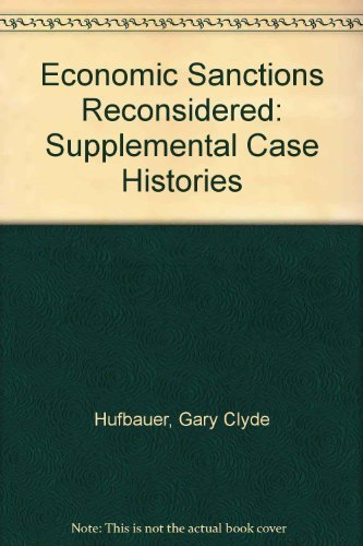 9780881321050: Economic Sanctions Reconsidered: Supplemental Case Histories