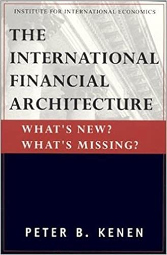 9780881322972: The International Financial Architecture: What's New? What's Missing (Policy Analysis in International Economics Ser)