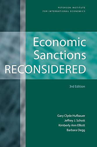 9780881324129: Economic Sanctions Reconsidered