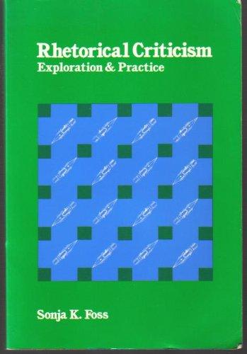 9780881333893: Rhetorical Criticism: Exploration and Practice