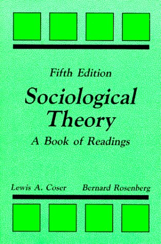 9780881334579: Sociological Theory: A Book of Readings