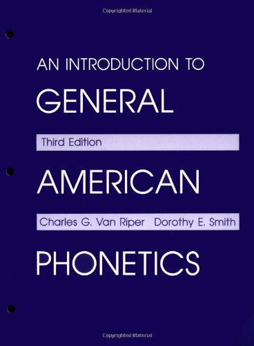 9780881336719: An Introduction to General American Phonetics