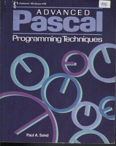 9780881341058: Advanced Pascal programming techniques
