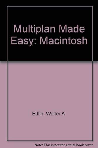9780881341539: Multiplan made easy