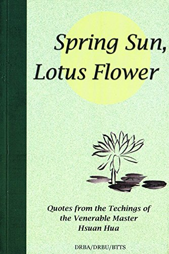spring sun lotus flower quotes from the teachings of venerable