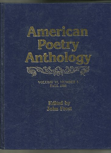 9780881470192: American Poetry Anthology (Vol 6, No. 3)