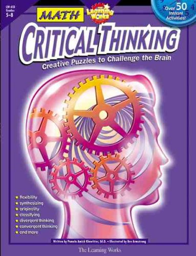 9780881603392: Critical Thinking Series: Math, Gr. 5-8 (The Learning Works)