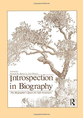 9780881630350: Introspection in Biography: The Biographer's Quest for Self-awareness