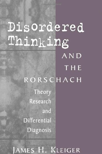 9780881632323: Disordered Thinking and the Rorschach: Theory, Research, and Differential Diagnosis