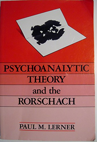9780881632552: Psychoanalytic Theory and the Rorschach